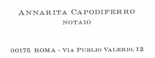 Notaio Annarita Capodiferro